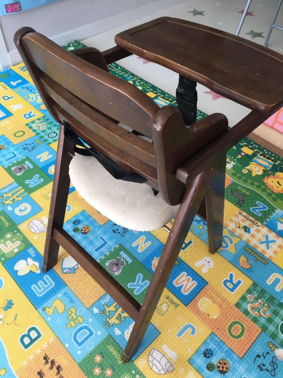 접이식 유아용 식탁의자