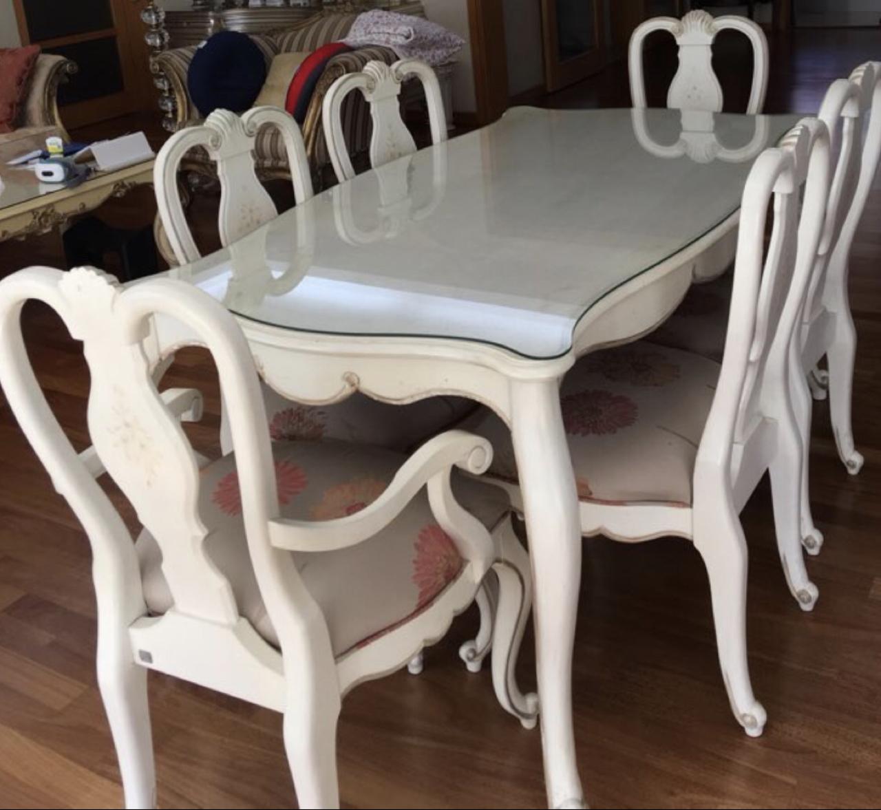 [식탁] 엔티크 6인용 식탁 판매