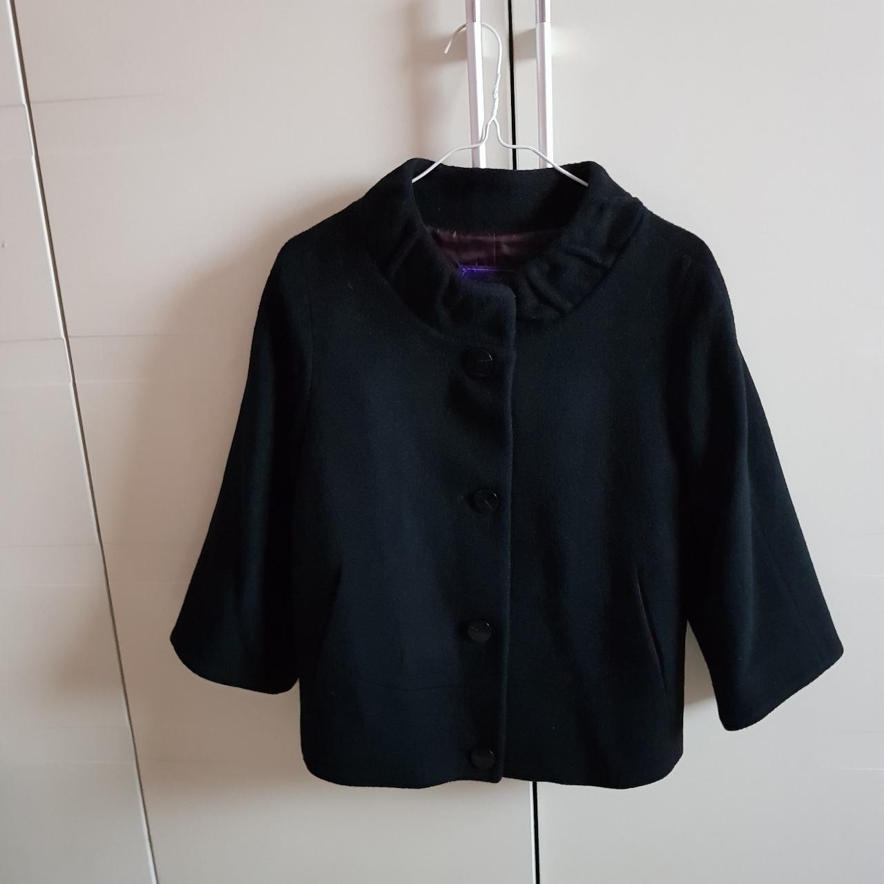 겨울 검정 숏 코트