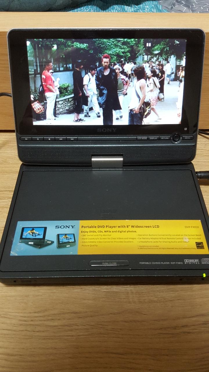 (무료20)  sony 휴대용 DVD플레이어
