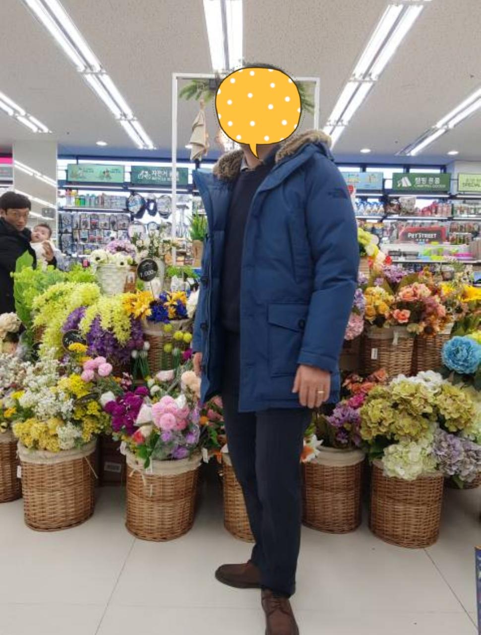 [노스페이스]색감이쁜 블루패딩 다운자켓 95 팔아요!!