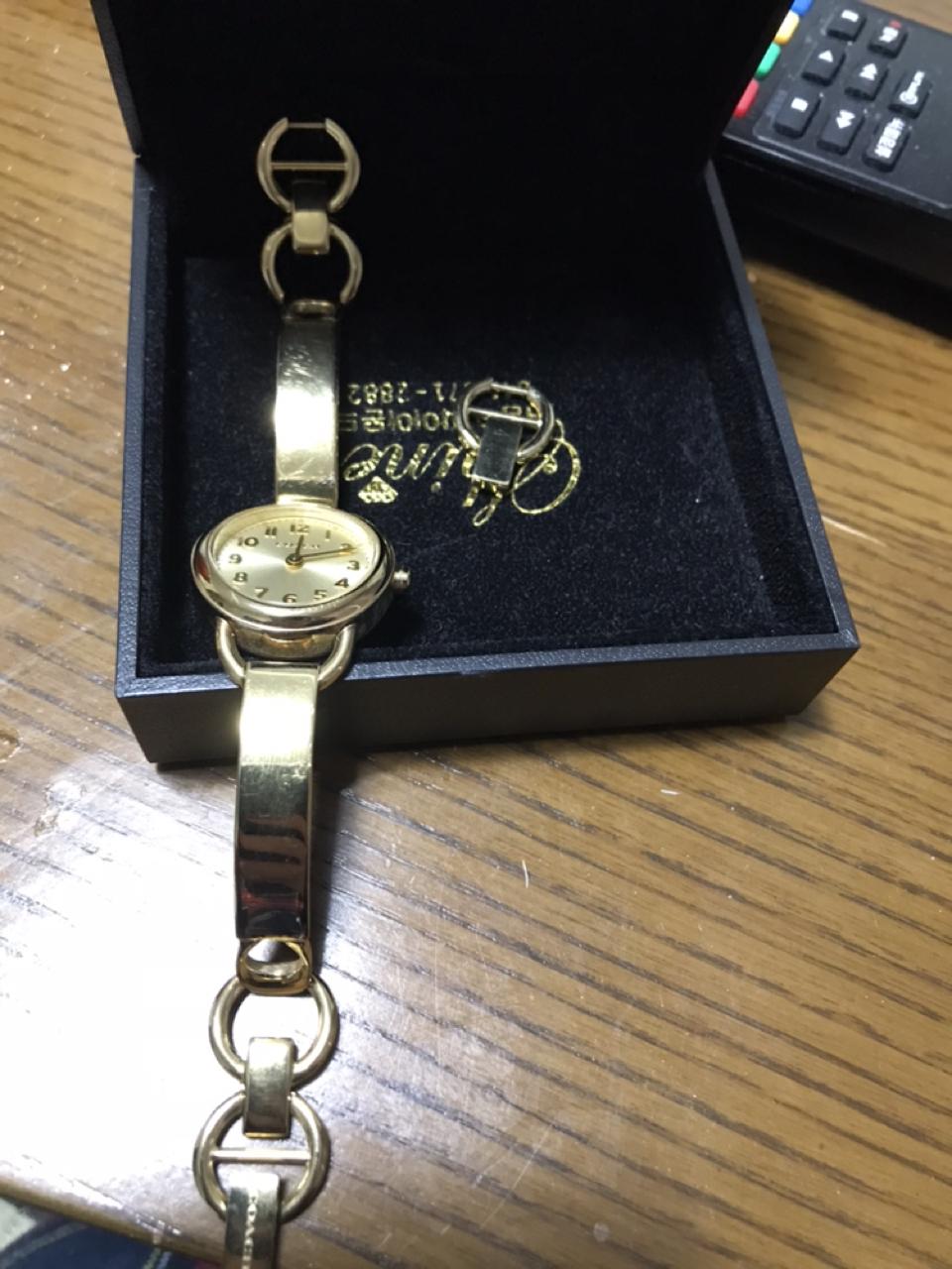 코치골드메탈 여성손목시계