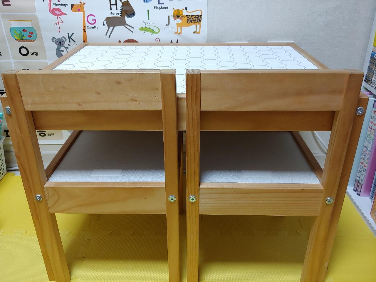 이케아 레뜨 책상 / 의자 (유아 책상의자)