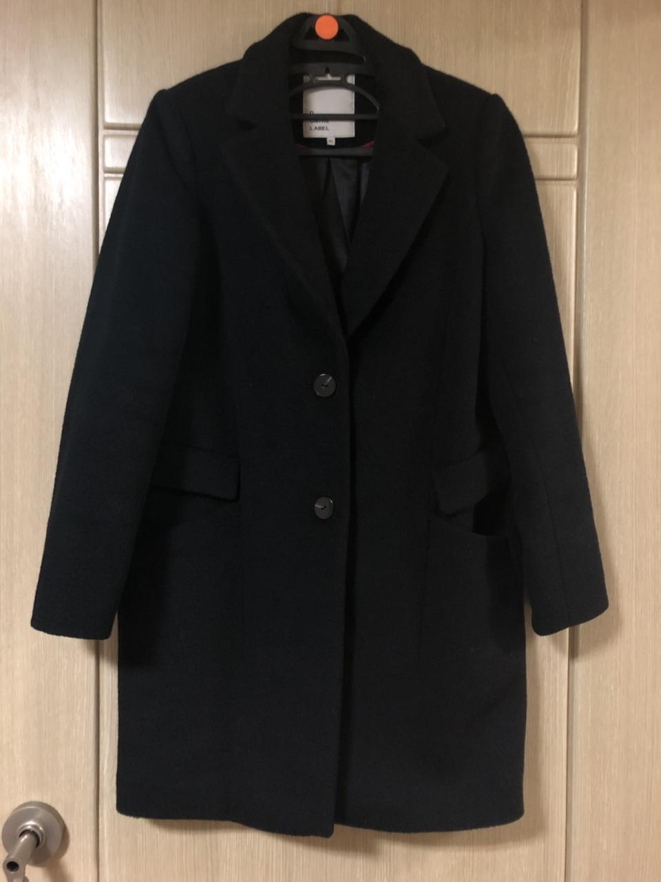 디온더레이블 검정 블랙 울코트 모코트 여자코트