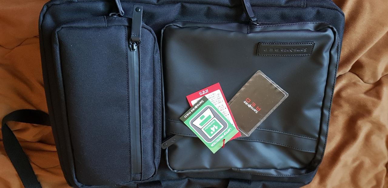 쌤소나이트 레드 정품백팩 서류가방 노트북백팩 사용감없음
