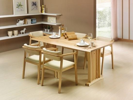 장인가구 원목식탁 아테네식탁 6인용 + 의자 6개