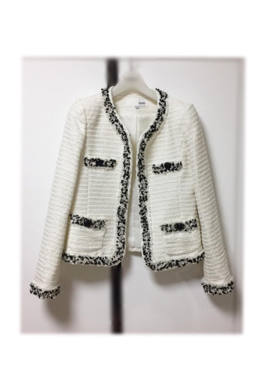 [S] 미쏘 트위드자켓 미쏘자켓 미쏘아우터 여성자켓 가을자켓 정장자켓 봄자켓 하객룩 여자자켓
