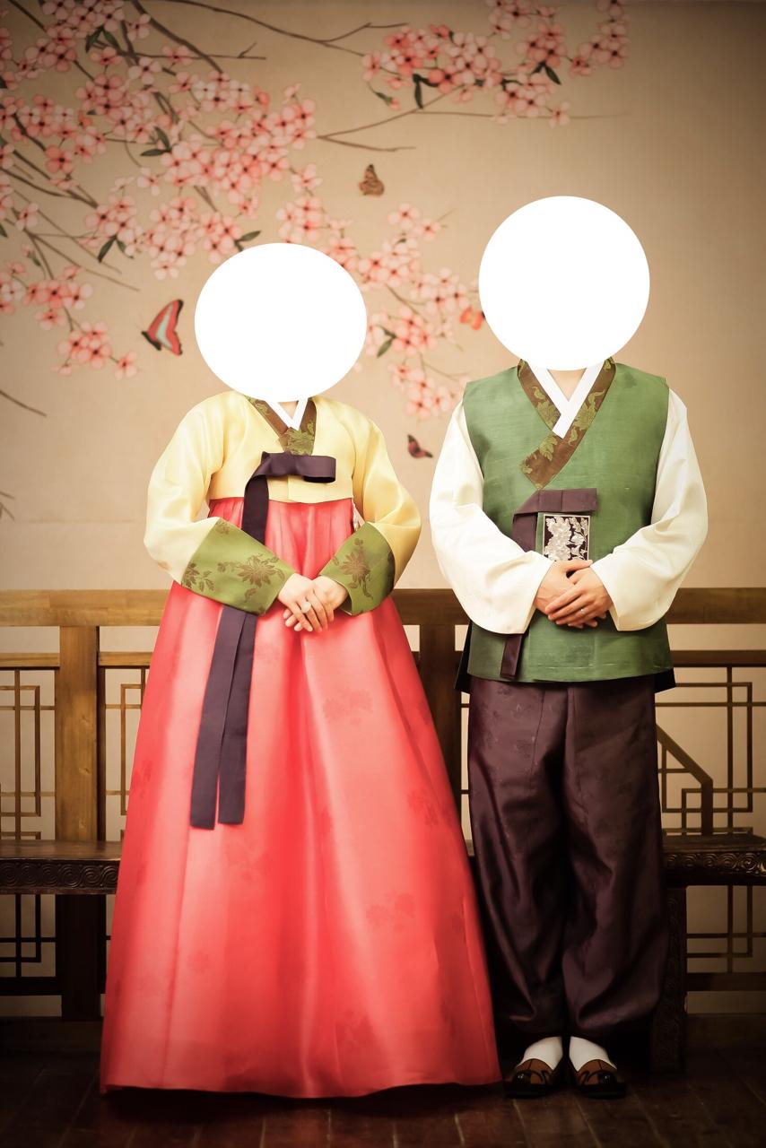 남녀 고급 한복세트. 청담동 맞춤한복. 신혼부부 커플 한복