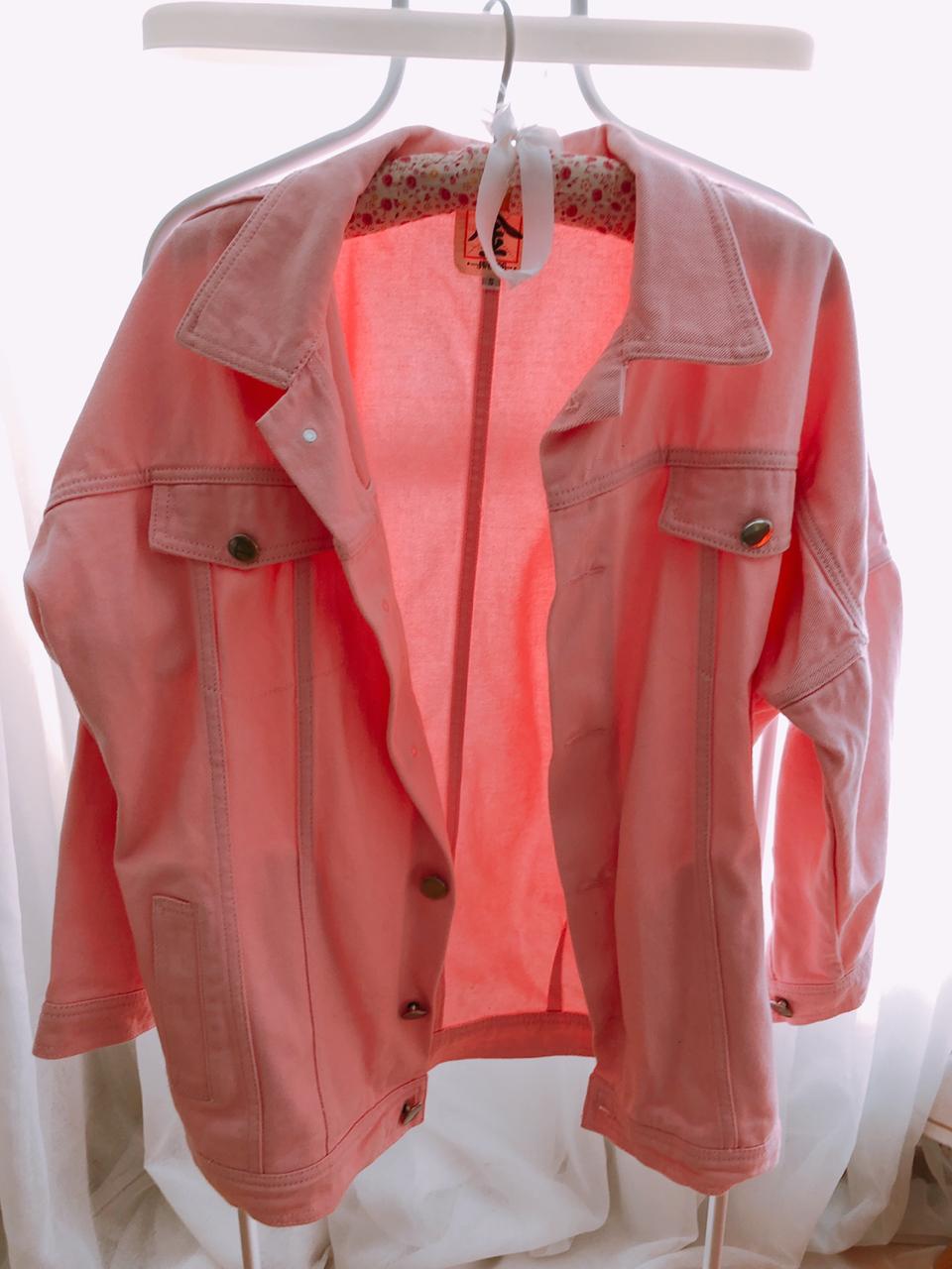 핑크자켓 한번착용 프리사이즈
