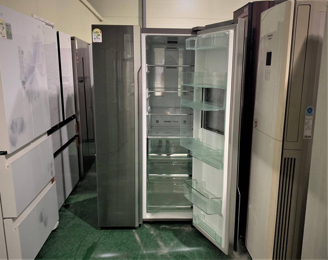 삼성 지펠 그랑데 스타일 럭스메탈 양문형 홈바냉장고 70만원