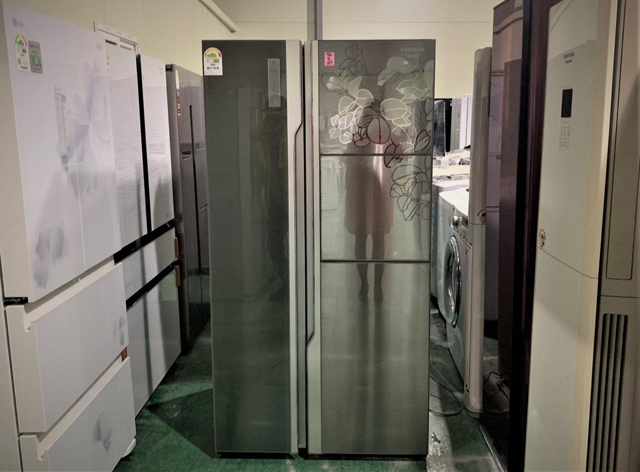 지펠 럭스메탈 그랑데 양문형 냉장고
