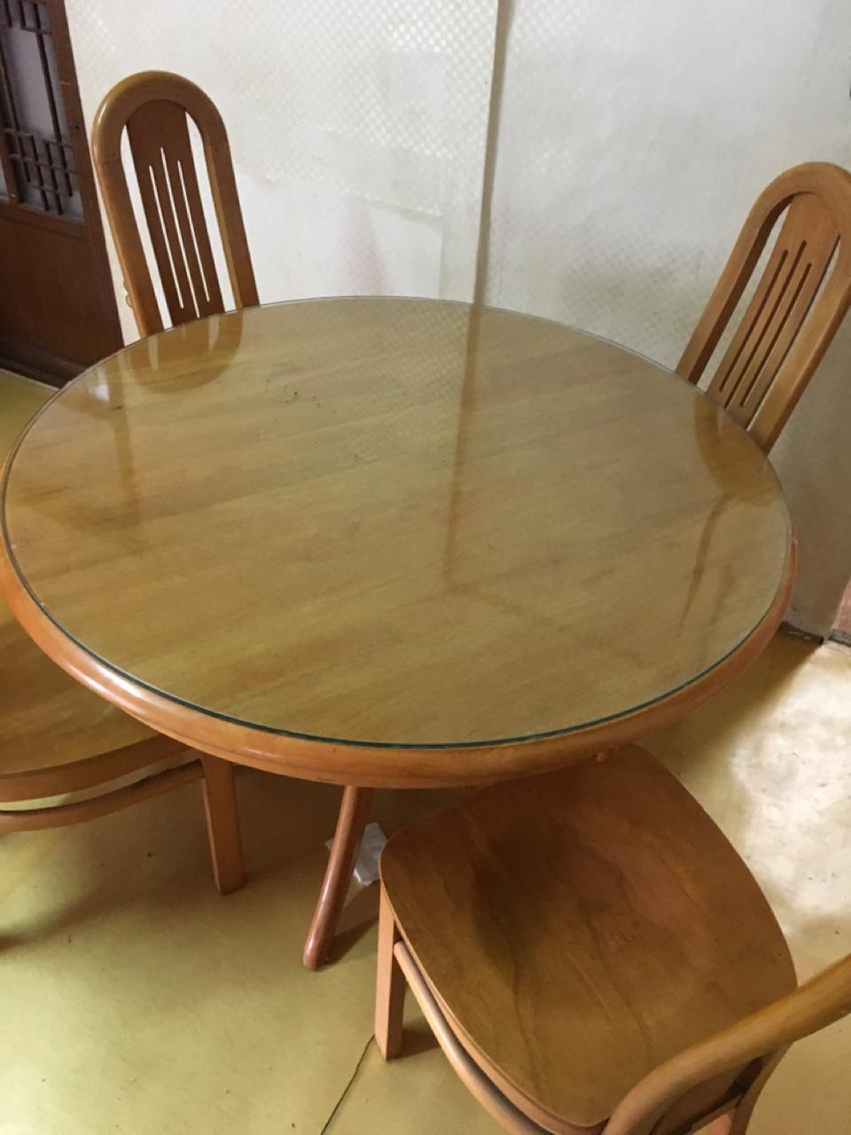 식탁 4인용식탁 원형테이블 탁자