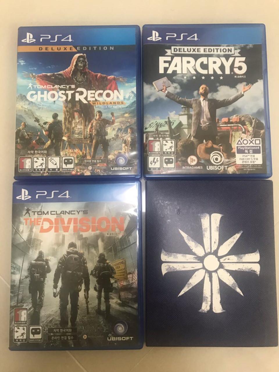 PS4 파크라이5(디럭스에디션), 고스트리콘 와일드랜드(디럭스에디션), 더 디비전 싸게 팝니다~