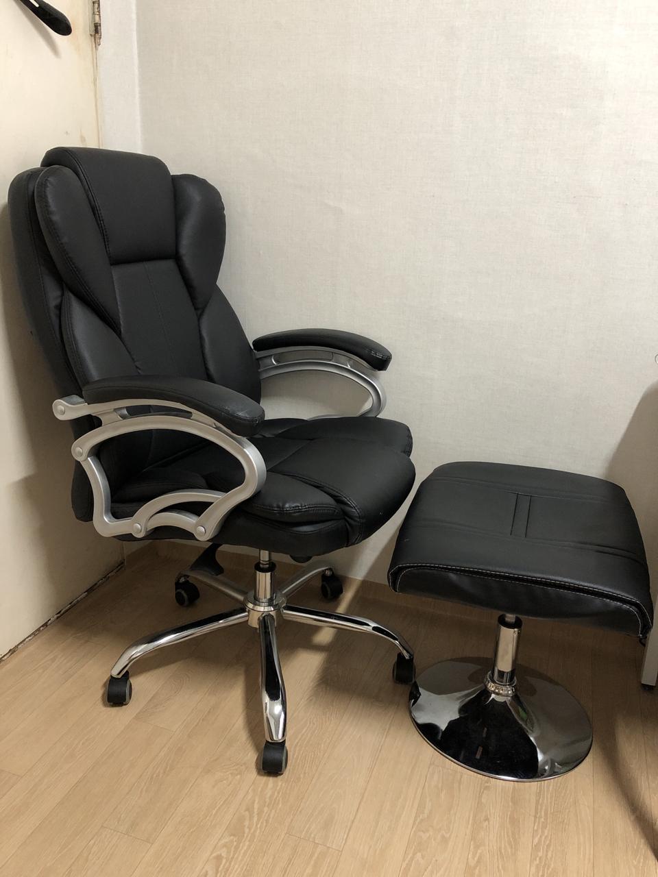 사장님의자 서재 의자 게임방 의자 발받침 포함