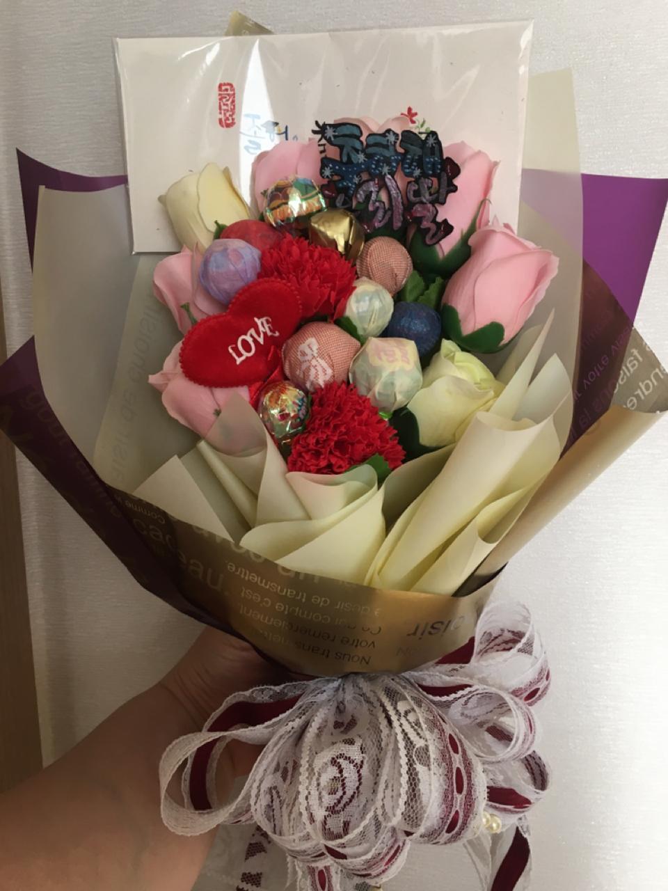 사탕 비누꽃 꽃다발(가격다운)