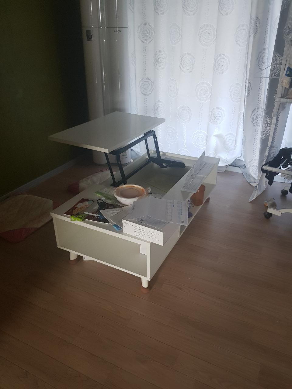리프트가승 수납공간 많은 테이블  급매