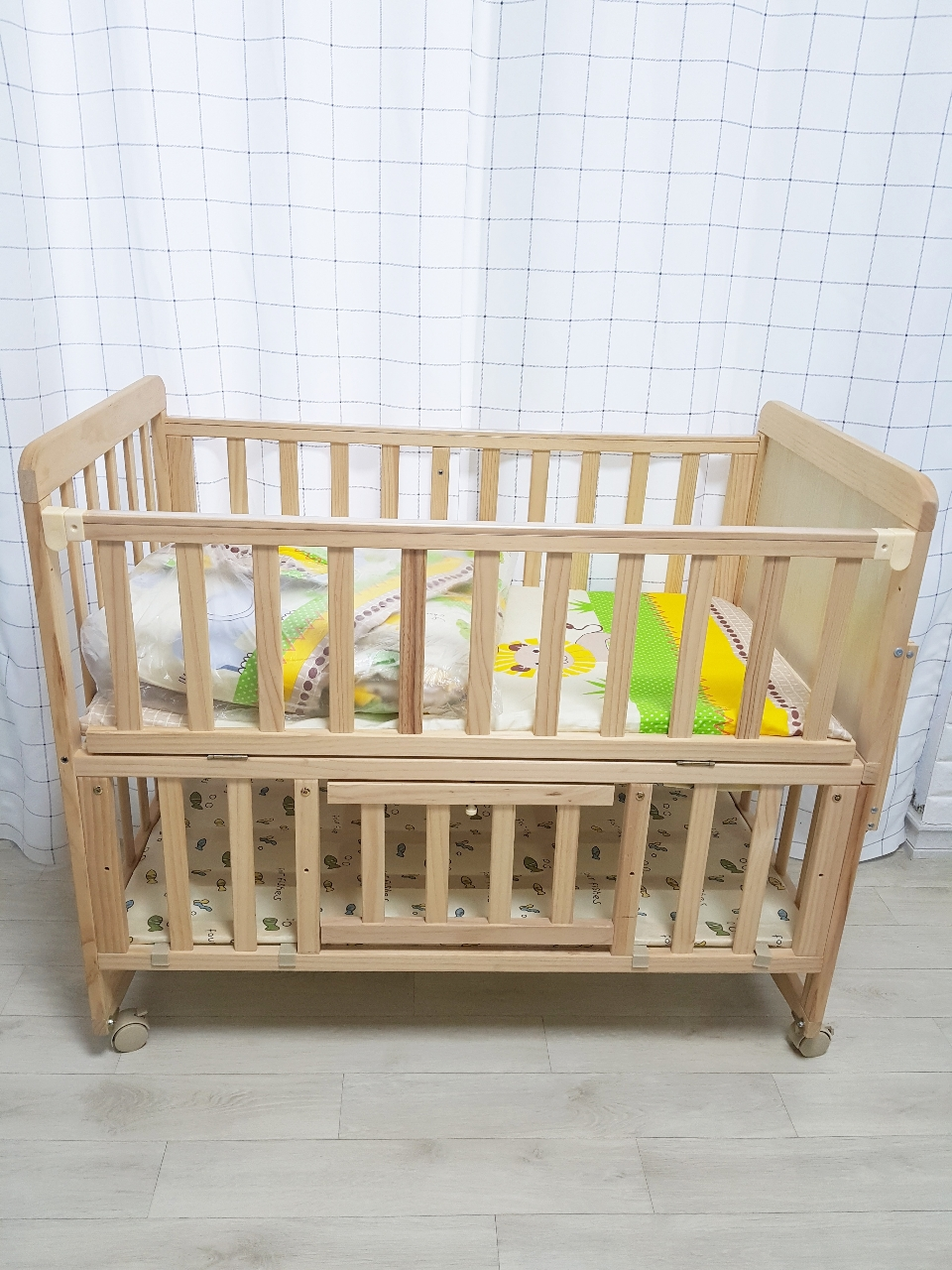 벨라 범퍼 원목 아기침대