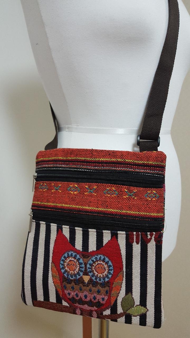 짜임 부엉이 크로스 가방(고정가격)