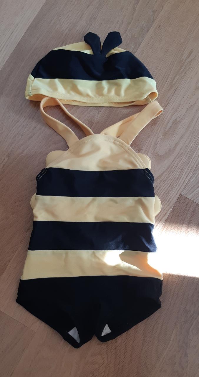 꿀벌 수영복이에요.
