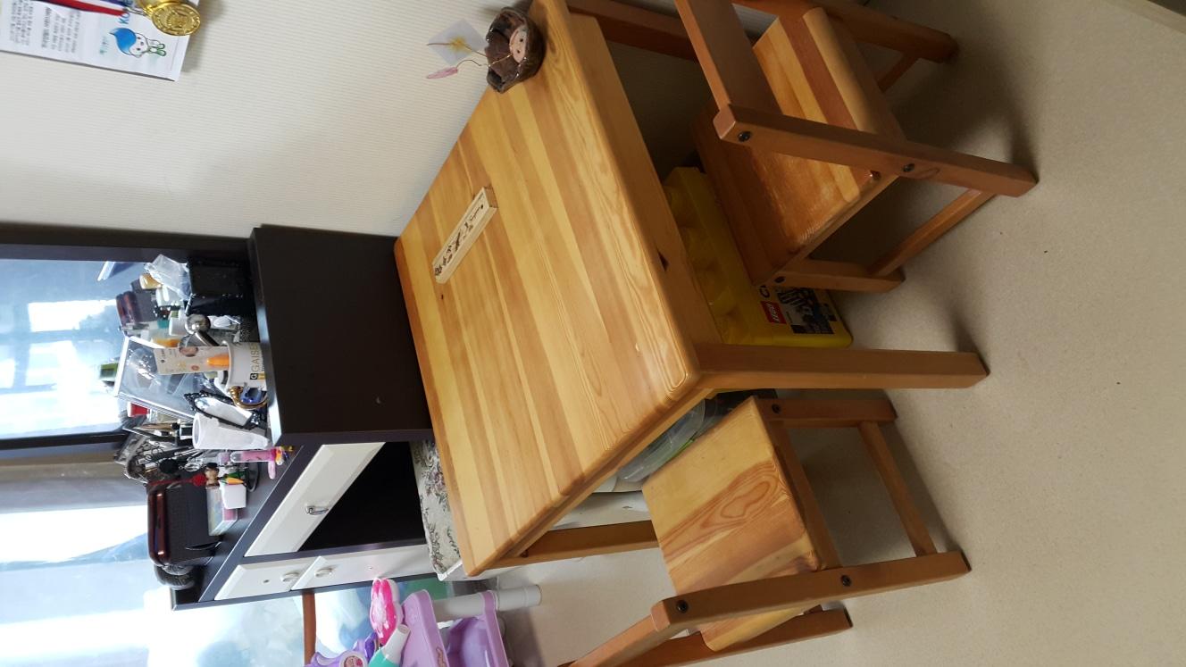 솔로몬 소나무원목 책상 의자셋트ㅡ5000원 내립니다