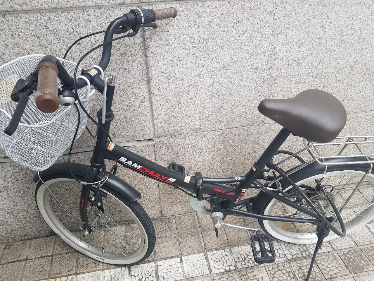 새자전거나 다름없는 바구니자전거 팔아요 ♡