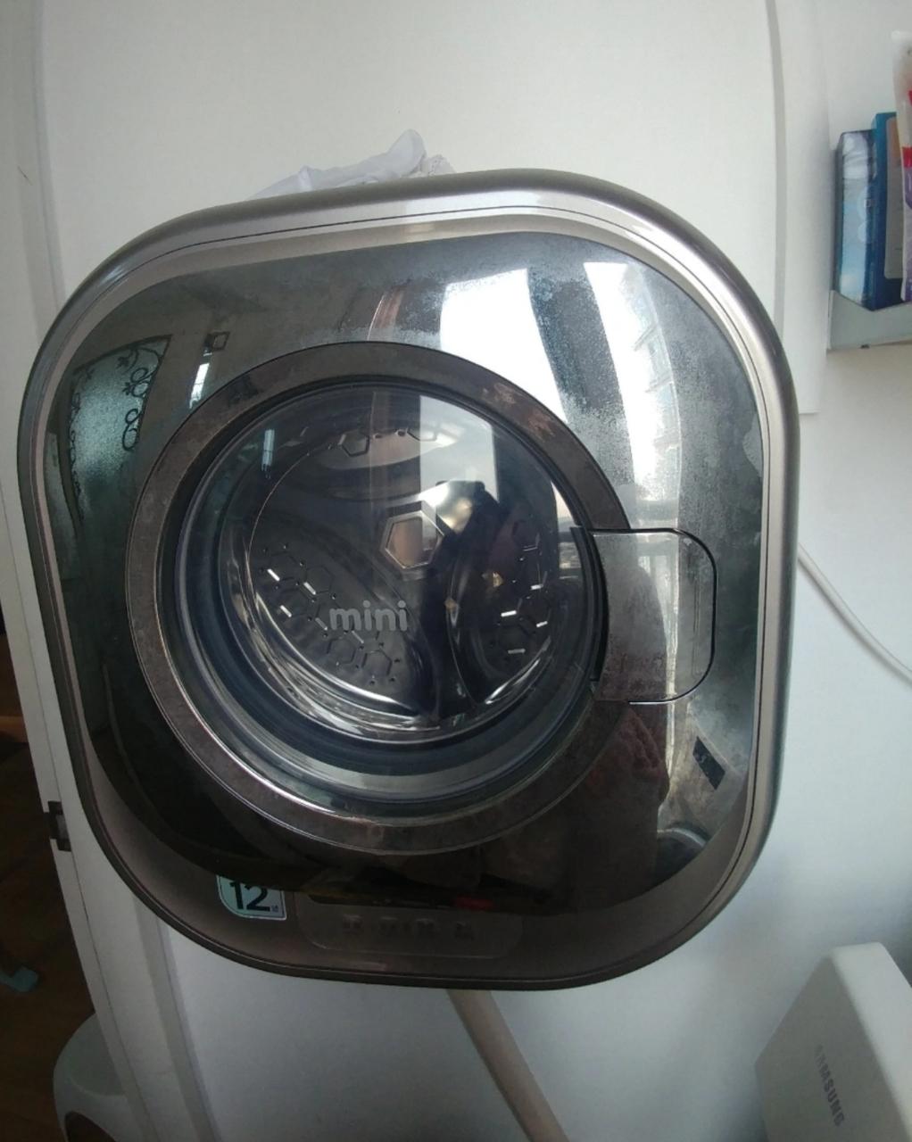 대우 벽걸이세탁기. 아기세탁기