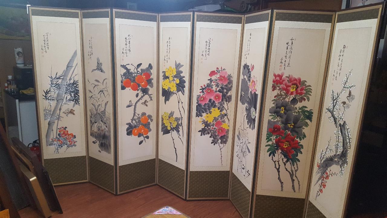 8폭병풍 우현 홍성호 작