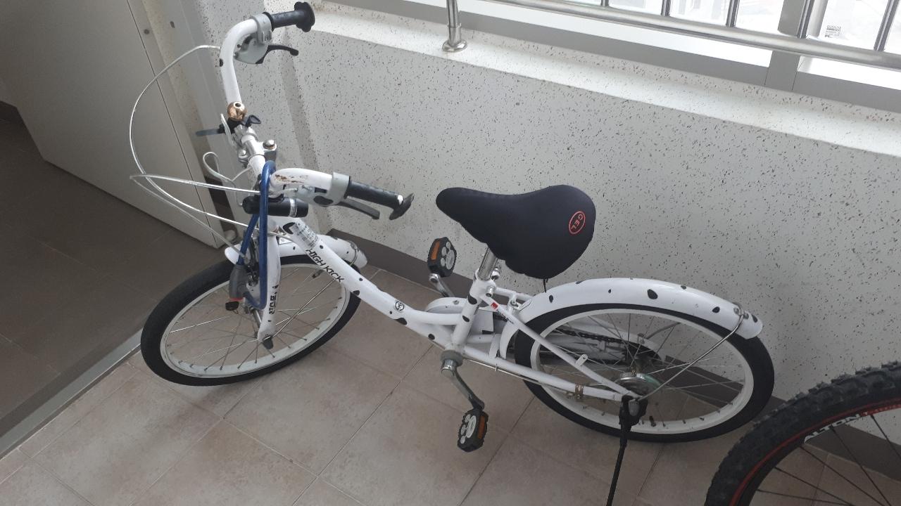 아이  자전거 내놓습니다.