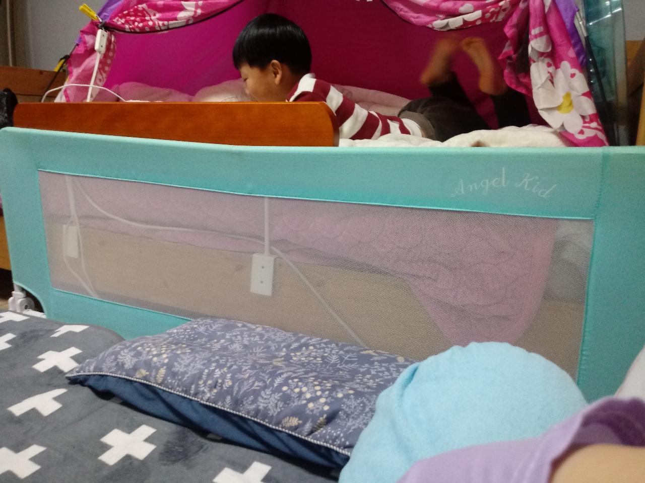 [나눔]침대에서 떨어지면 위험!침대가드