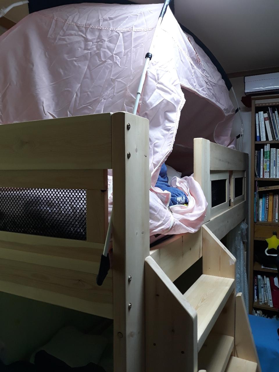 편백나무2층침대