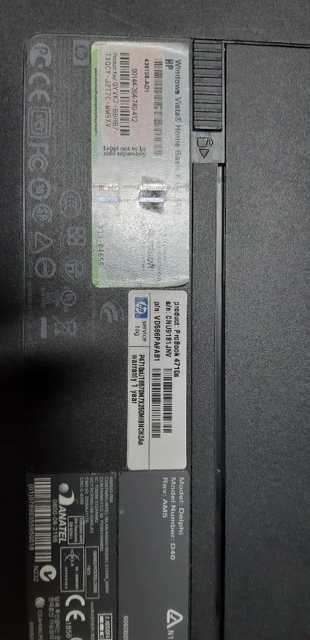 hp노트북4710s