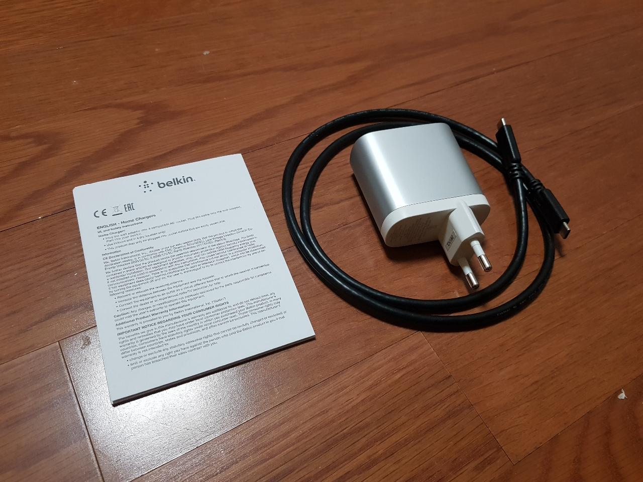 [주변기기] 벨킨 C to C 45W USB-PD 충전기