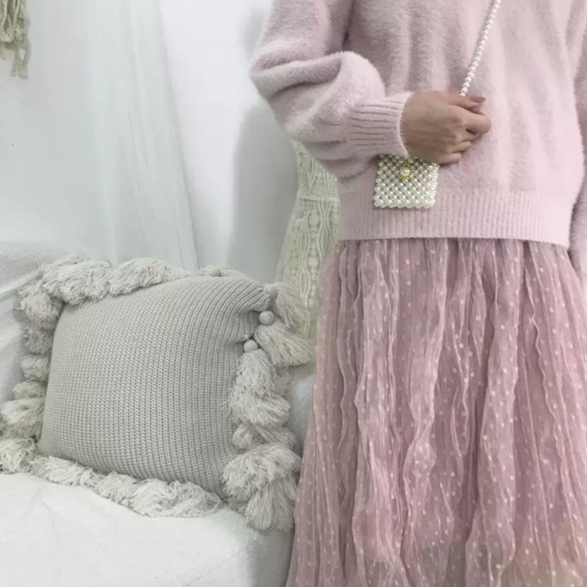 러블리 매쉬스커트 ♡무배♡새상품