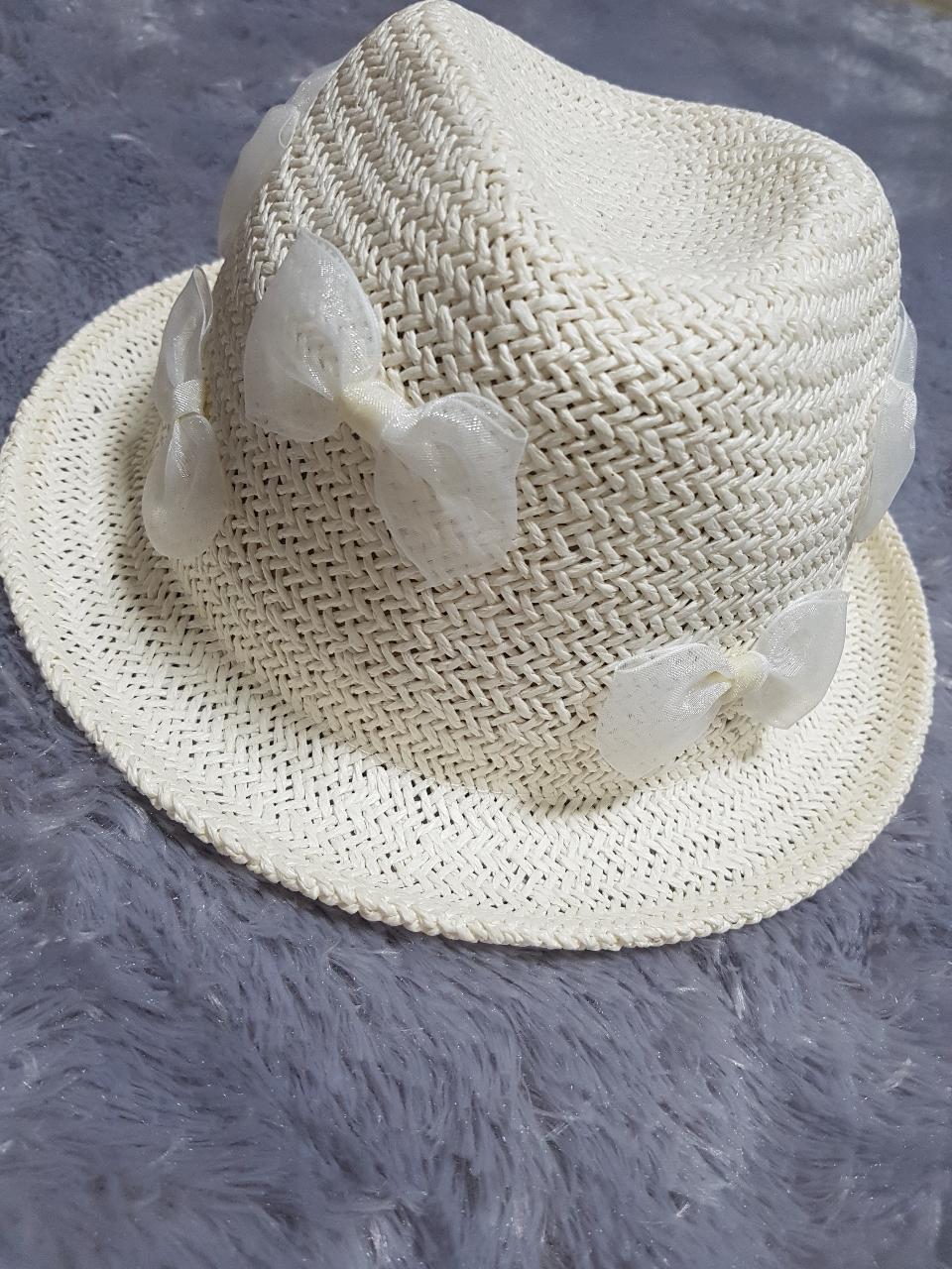 👒 여름 모자 !!! 흰색리본모자