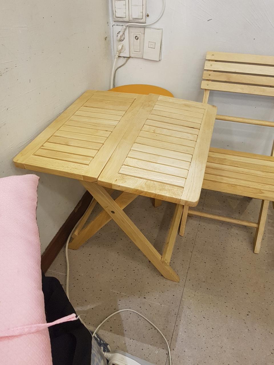 접의식 책상과 의자세트 팝니다