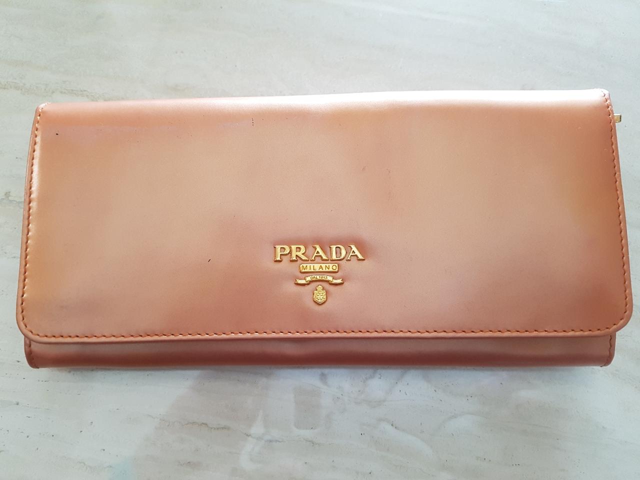 정품 프라다 장지갑