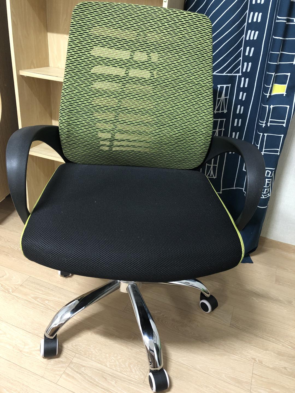 매쉬 책상 의자 높이조절가능 연두색