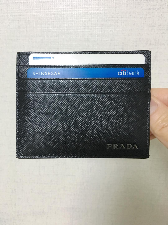 [새상품] 프라다 카드지갑, 피렌체 더몰에서 구입, 남자친구선물