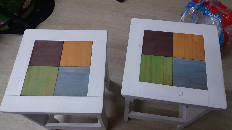 원목의자 2개