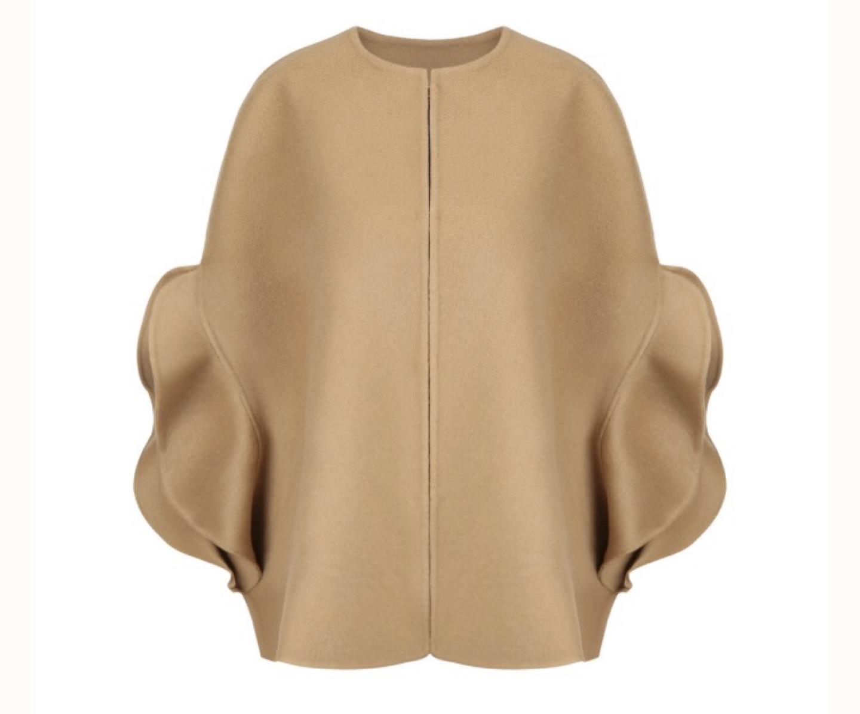 (마지막가격)새상품 카멜 캐시미어 케이프 코트