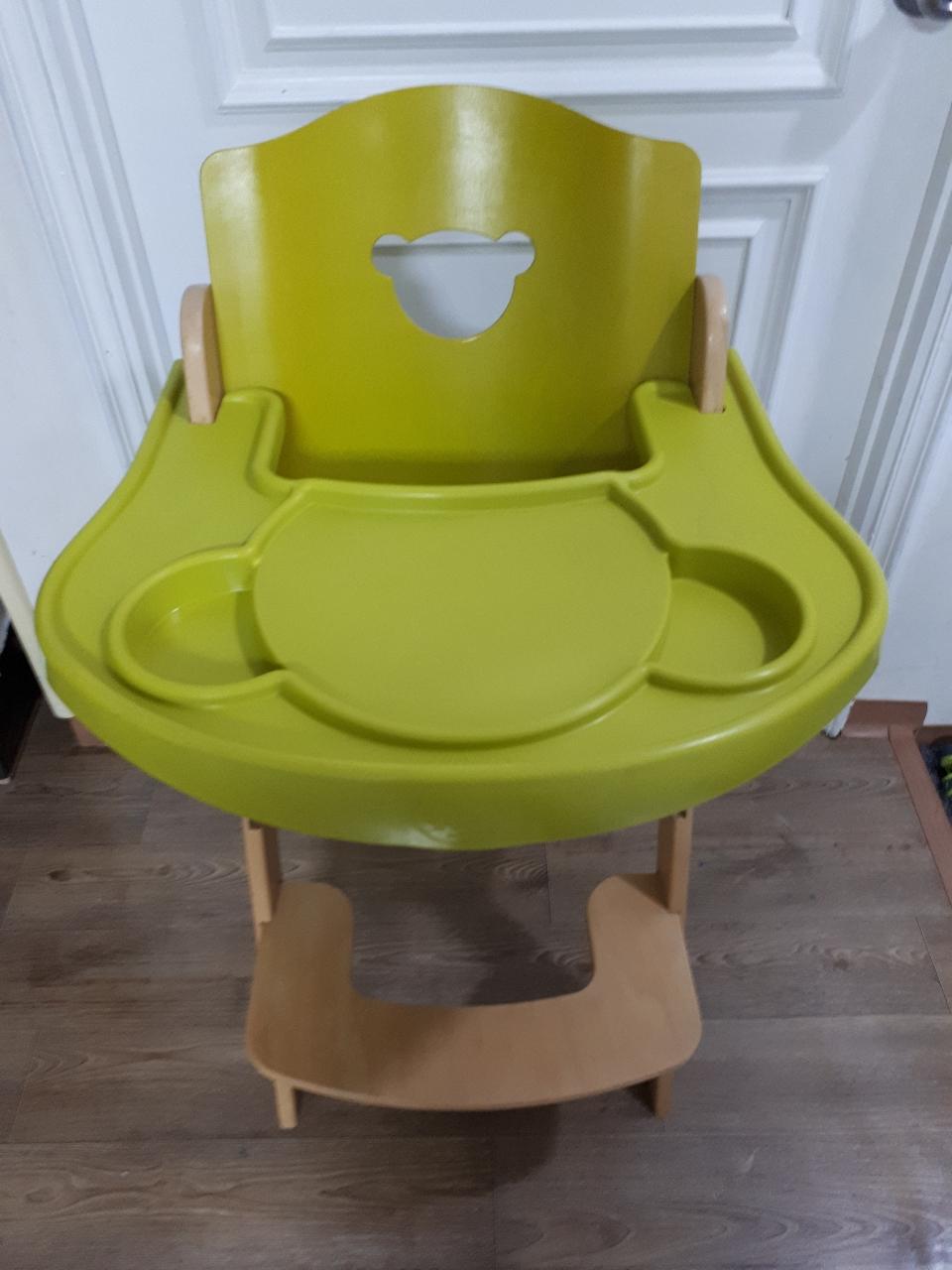 아기 식탁의자 ㅡ이탈리아 팔리 친환경 원목 식탁의자ㅡ트레이 포함