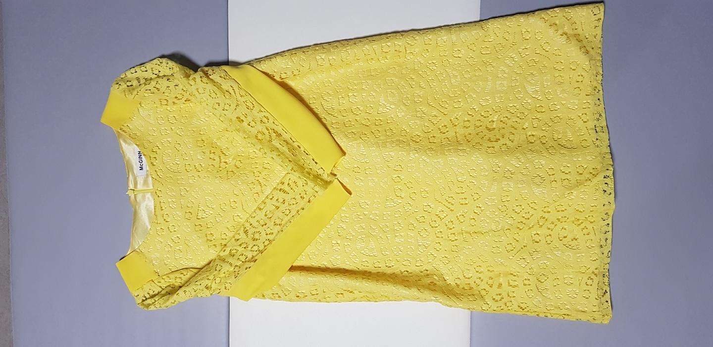 55 매긴 레이스 원피스 노란빛