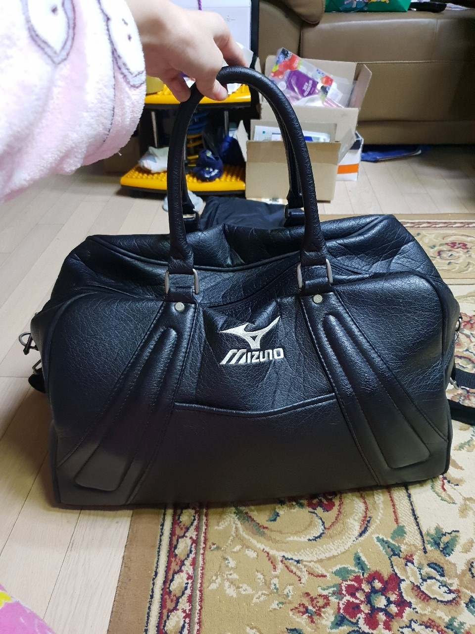 미즈노 골프가방 보스턴백 어깨끈있음 mizuno 미즈노 가방 여행가방 골프백