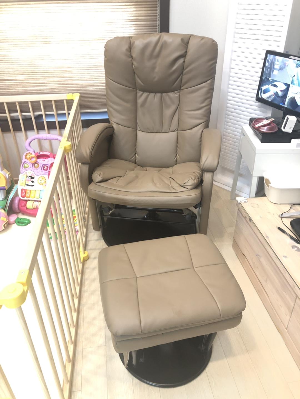 스트레스프리 수유 의자 (흔들의자 +수동리클라이너)