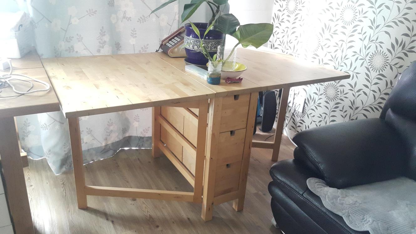 자작나무 접이식테이블