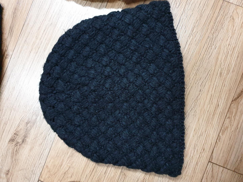 검은 털 모자