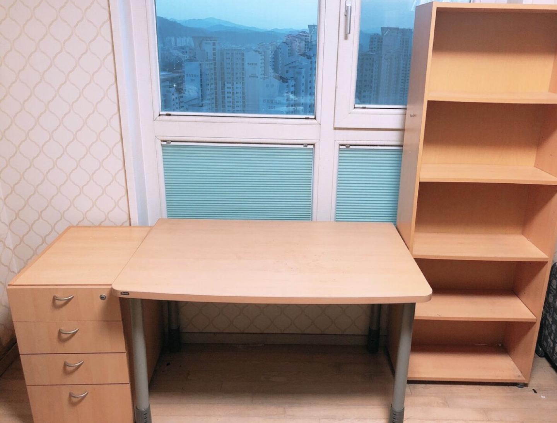 🥕[iloom] 일룸책상세트 ❤️ 책상+서랍장+책꽂이+의자