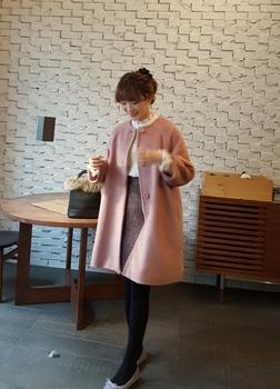 알파카 코트 새상품
