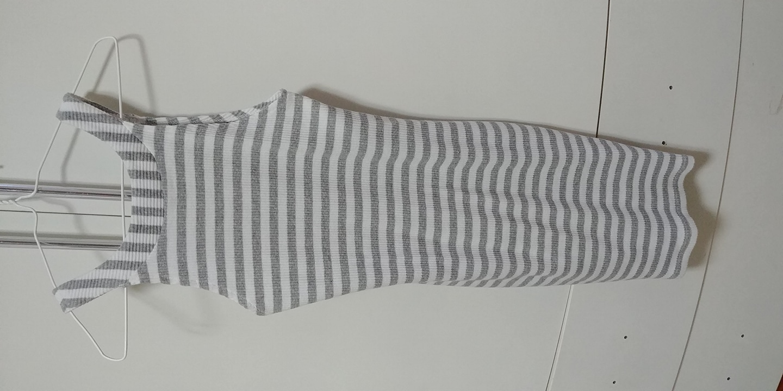 니트줄무늬원피스