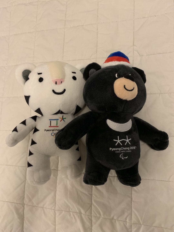2018 평창올림픽 수호 반다비 인형세트 팝니다.